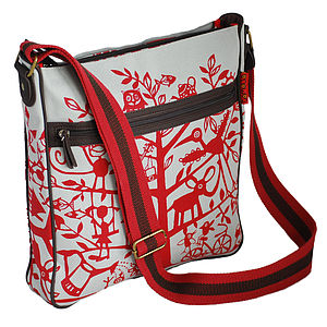 Red Tree Messenger Bag - bags & purses