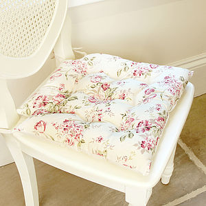 Summer Rose Square Seat Pad - cushions