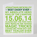 Green Personalised 'Best Daddy Ever' Card