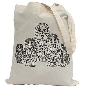 Colour In Russian Doll Tote Bag