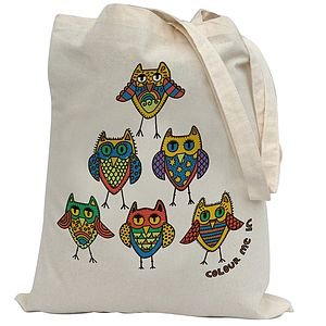 Colour In Owls Tote Bag