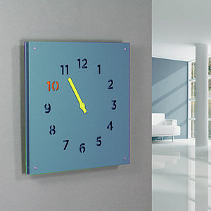 Steel Wall Clock, Blue