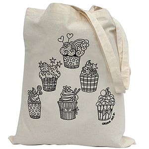 Colour In Cupcake Tote Bag