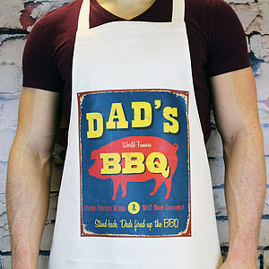 Personalised Vintage Style Bbq Apron - gifts for the garden