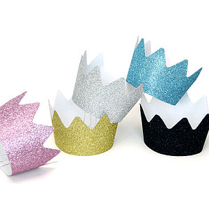 Children's Birthday Party Glitter Crowns - children's party ideas