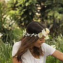 Large Flower Headband Crown