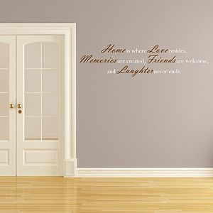 Where Love Resides Quote Wall Sticker - wall stickers