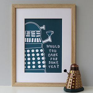 'Would You Care For Some Tea?' Dalek Print - gifts for geeks