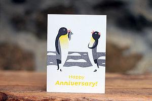 Happy Anniversary Penguin Card