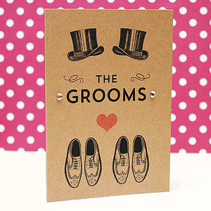 'The Grooms' Wedding Card - engagement cards