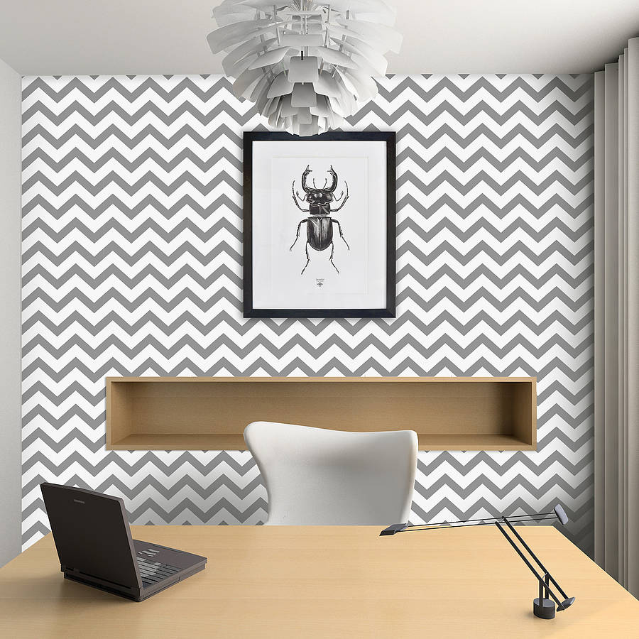 Contemporary chevron self adhesive wallpaper by oakdene for Modern wallpaper for walls ideas