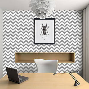 Contemporary Chevron Self Adhesive Wallpaper - wallpaper