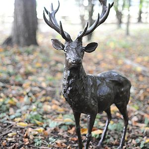 Bronze Stag Sculpture - ornaments