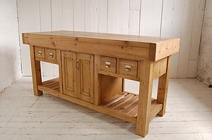 Reclaimed Open Ended Island - dressers & sideboards
