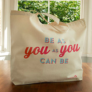 'Be You' Large Canvas Bag