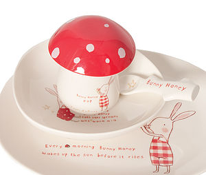 Bunny Toadstool Egg Cup With Lid