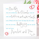 Personalised Handwritten Daddy And Child Card