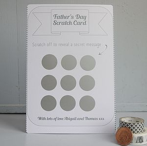 Personalised Father's Day Scratch Card - father's day cards