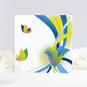 Artistic Butterfly Floral Greeting Card