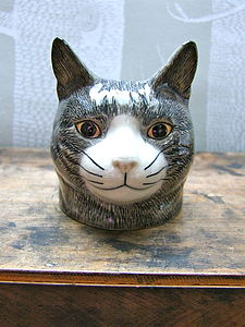 Cat Egg Cup - egg cups & cosies
