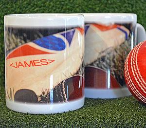 Personalised Cricket Bat Mug