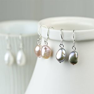 Baroque Freshwater Pearl Earrings - earrings
