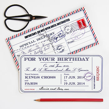 Personalised Birthday Travel Ticket