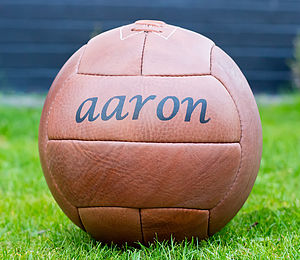 Personalised Hand Stitched Leather Football - games