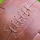 Personalised Leather Hand Stitched Football