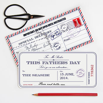 Personalised Fathers Day Ticket