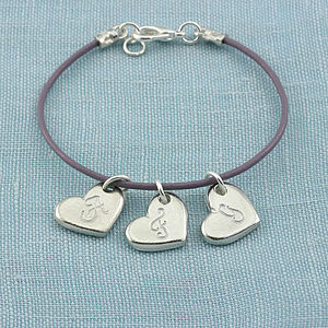 Personalised Pewter And Leather Bracelet - bracelets & bangles