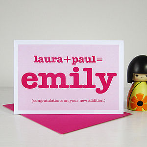 Personalised Baby Card - new baby cards