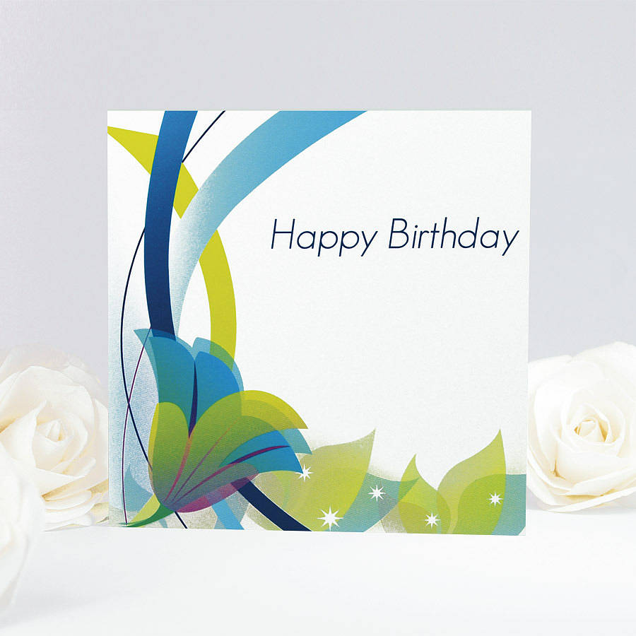 Elegant Floral Birthday Card By Munchkin Creative