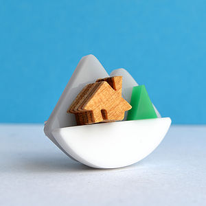 Mini Mountain Brooch - on trend: mountains & contours