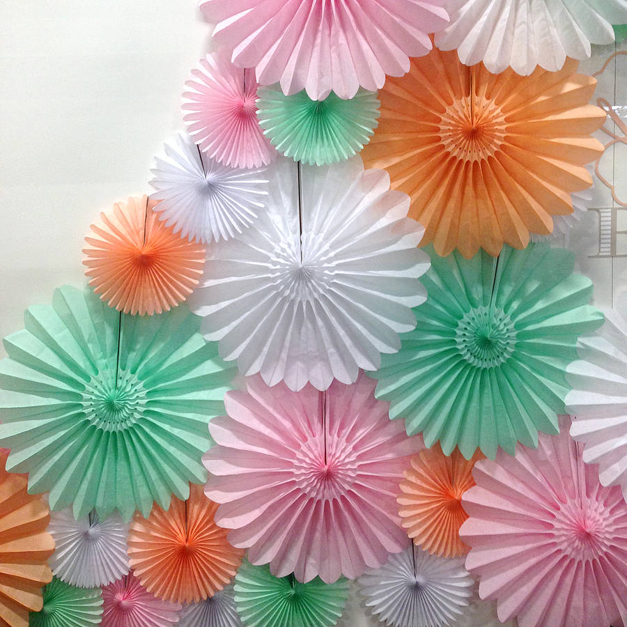 Tissue Paper Fan By Peach Blossom Notonthehighstreet Com