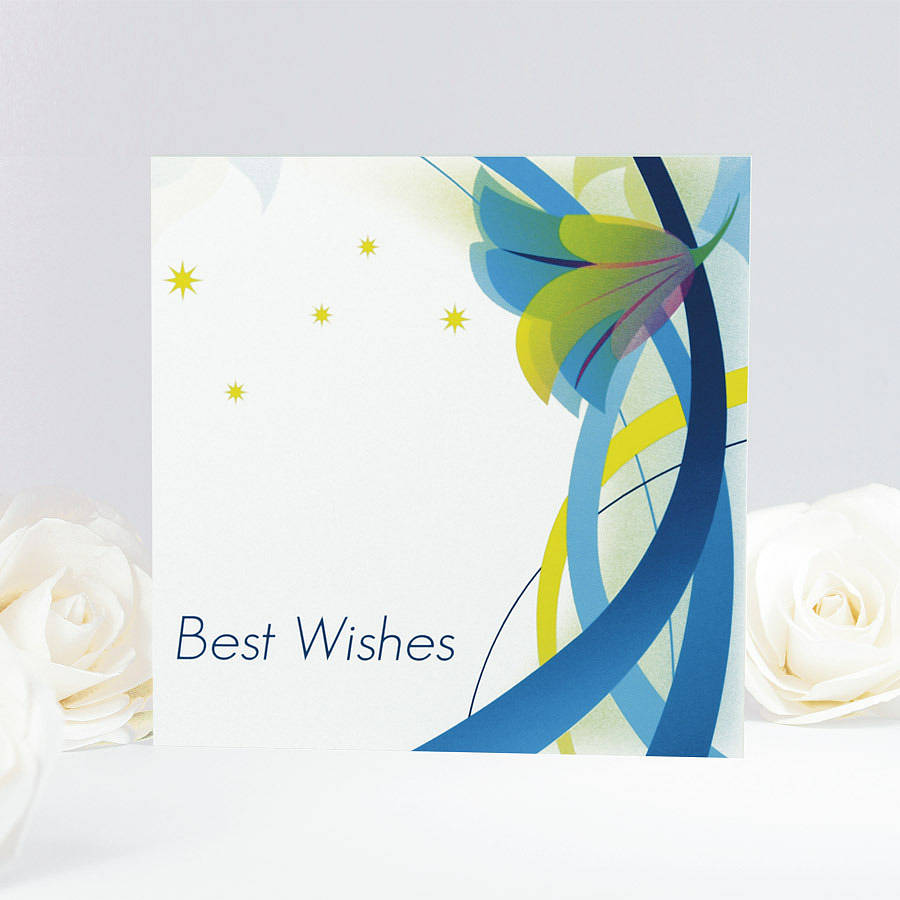 Floral Best Wishes Card By Munchkin Creative