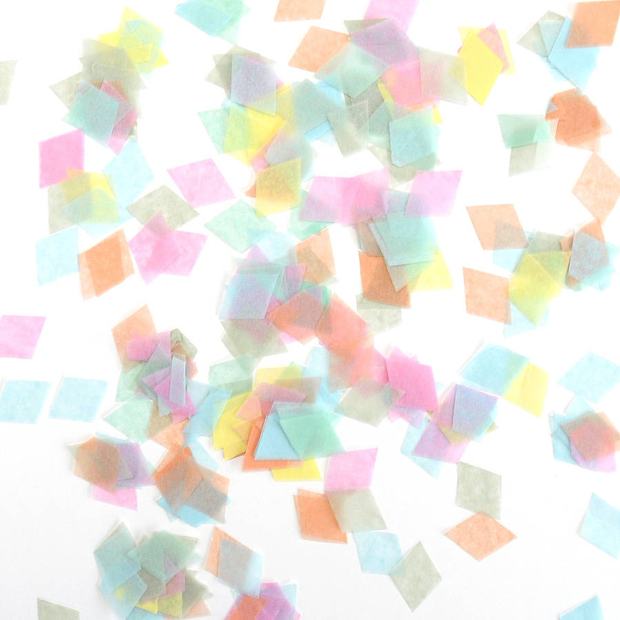 tissue paper confetti Super simple, and easy way to turn tissue paper into 3 different types of confetti   free tutorial with pictures on how to make confetti in under 15.