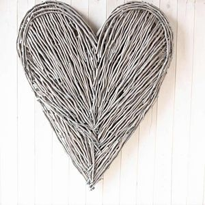 Extra Large Wicker Love Heart - decorative accessories