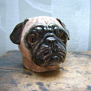 Pug Egg Cup - egg cups & cosies