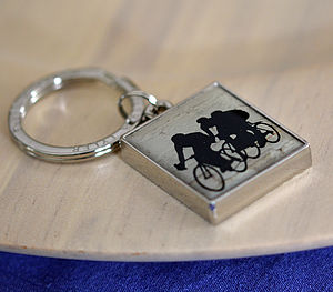 Cycling Races Keyring