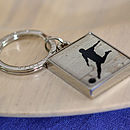 Football Enamelled Keyring