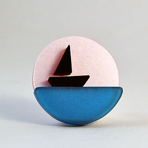 Little Sailing Boat Brooch