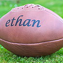 Personalised Hand Stitched Leather Rugby Ball