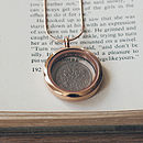Silver Sixpence Locket