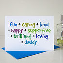 'Daddy' Card For Dad