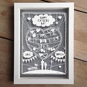 Personalised Fathers Day Papercut And Print - home & garden gifts