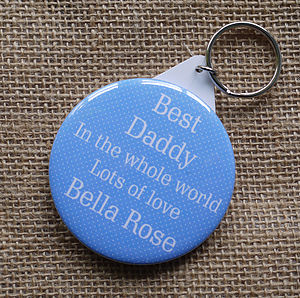 Personalised 'Best Daddy' Keyring