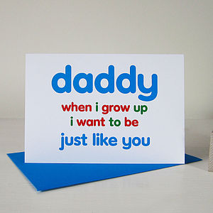 'Just Like You' Card For Dad