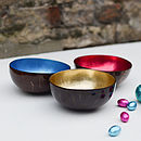 Coco Bowl, Coconut Shell Lacquer Bowls