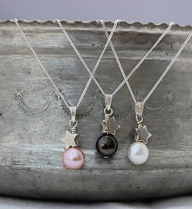 Mini Pearl Pendant With Silver Star - jewellery sets